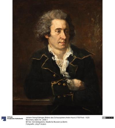 Bildnis des Schauspielers Anton Huck (1758 Pest - 1820 München)