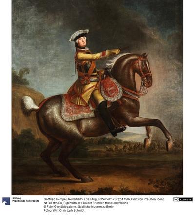 Reiterbildnis des August Wilhelm (1722-1758), Prinz von Preußen