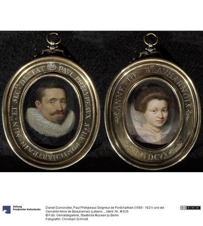 Paul Phélypeaux Seigneur de Pontchartrain (1569 - 1621) und die Gemahlin Anne de Beauharnais (Lebensdaten unbekannt)