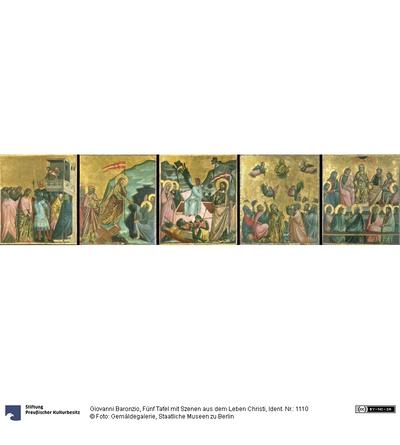 Fünf Tafel mit Szenen aus dem Leben Christi