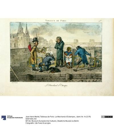 Tableaux de Paris. Le Marchand d´Estampes.