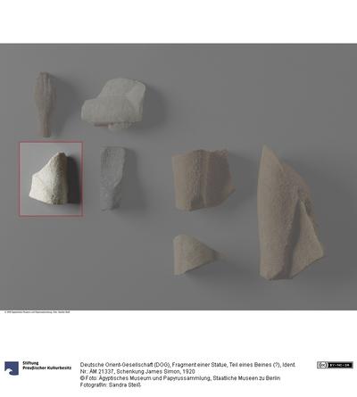 Fragment einer Statue, Teil eines Beines (?)