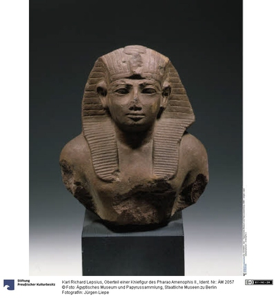 Oberteil einer Kniefigur des Pharao Amenophis II.