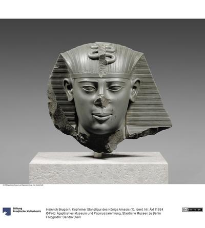 Kopf einer Standfigur des Königs Amasis (?)