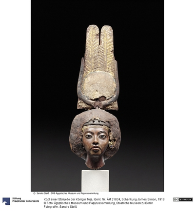 Kopf einer Statuette der Königin Teje