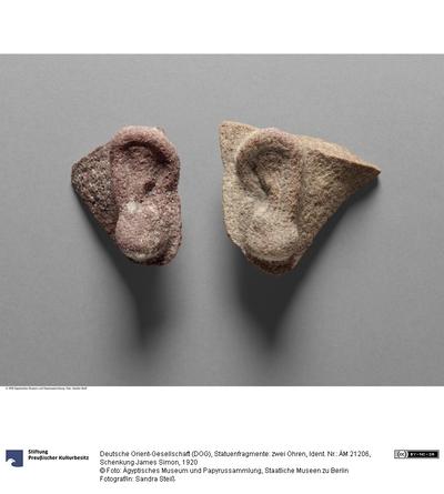 Statuenfragmente: zwei Ohren