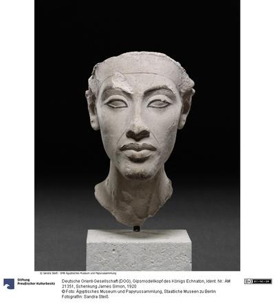 Gipsmodellkopf des Königs Echnaton