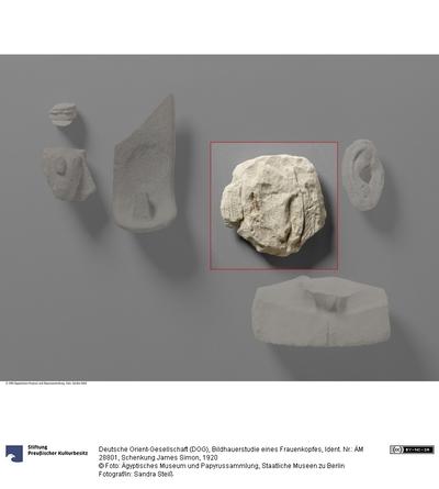 Bildhauerstudie eines Frauenkopfes