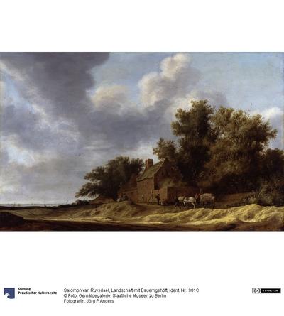 Landschaft mit Bauerngehöft