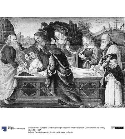 Die Beweinung Christi mit einem knienden Dominikaner als Stifter