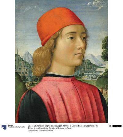Bildnis eines jungen Mannes in Dreiviertelansicht