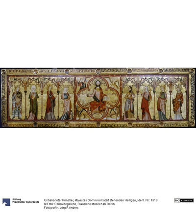 Majestas Domini mit acht stehenden Heiligen