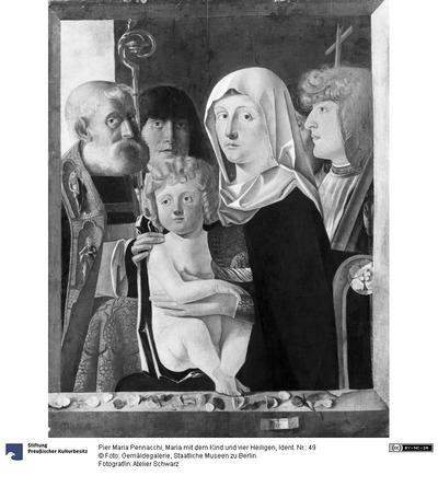 Maria mit dem Kind und vier Heiligen