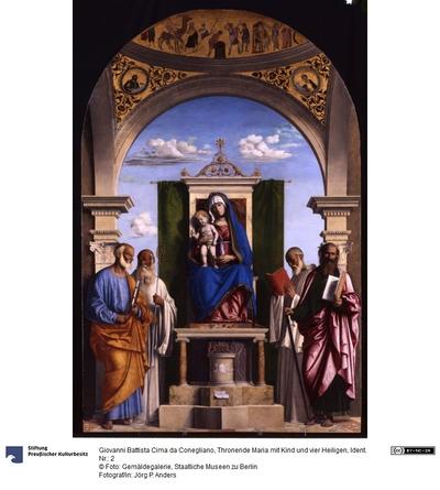 Thronende Maria mit dem Kind und den Heiligen Petrus, Romualdus, Benedikt und Paulus