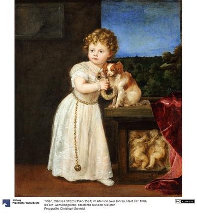 Clarissa Strozzi (1540-1581) im Alter von 2 Jahren