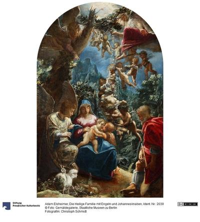 Die Heilige Familie mit dem Johannesknaben und Engeln