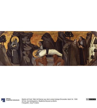 Tod des hl. Paulus, Antonius bestattet Paulus, Antonius kehrt mit Agathon in den Konvent zurück