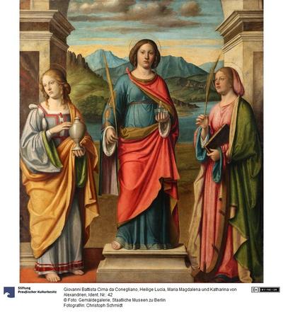 Die Heiligen Lucia, Maria Magdalena und Katharina von Alexandrien