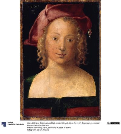 Bildnis eines Mädchens mit Barett