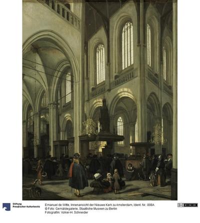 Innenansicht der Nieuwe Kerk zu Amsterdam