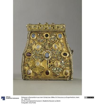 Reliquiar in Bursenform aus dem Schatz des Stiftes St. Dionysius zu Enger/Herford