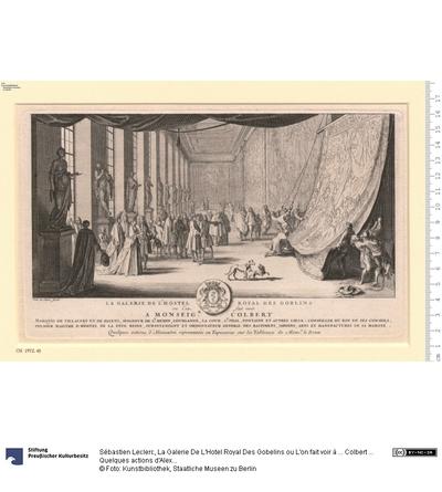 La Galerie De L'Hotel Royal Des Gobelins ou L'on fait voir à ... Colbert ... Quelques actions d'Alexandre representées en Tapisseries sur les Tableaux de Monsr. le Brun