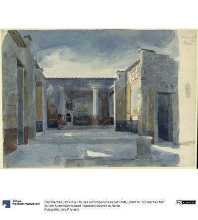 Hof eines Hauses in Pompeii (Casa del Poeta)