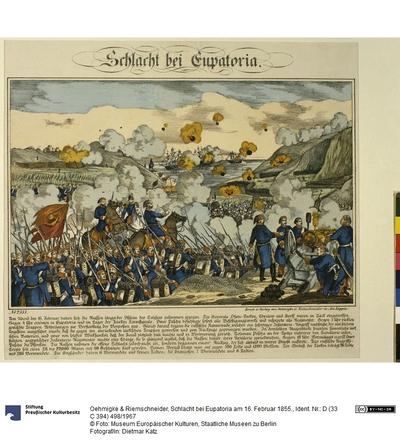 Schlacht bei Eupatoria am 16. Februar 1855.