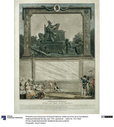 Almanach National. Dédié aux Amis de la Constitution (National-Kalender für das Jahr 1791, gewidmet den Freunden der Verfassung)