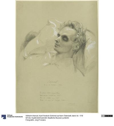 Karl Friedrich Schinkel auf dem Totenbett