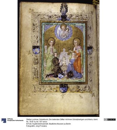 Gebetbuch, Die betenden Stifter mit ihren Schutzheiligen und Maria