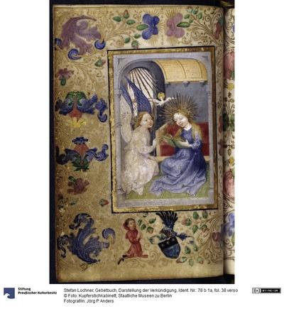 Gebetbuch, Darstellung der Verkündigung