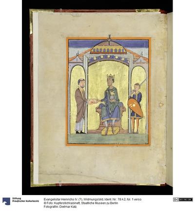 Evangelistar Heinrichs IV. (?), Widmungsbild