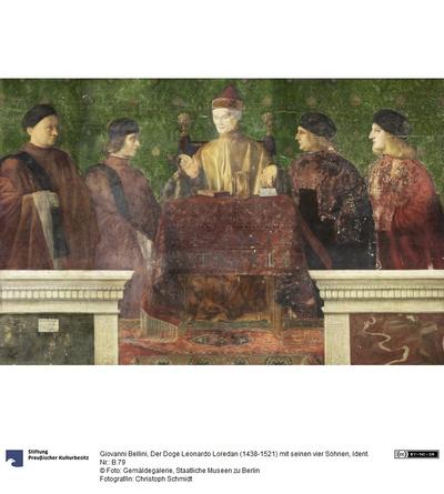Der Doge Lorenzo Loredan (1438-1521) und vier Nobili