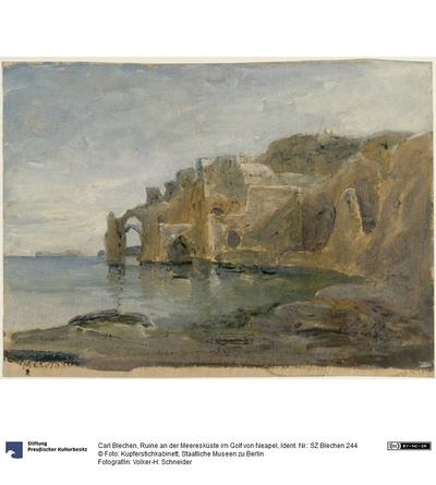 Ruine an der Meeresküste im Golf von Neapel