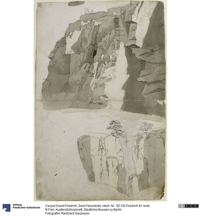 Zwei Felswände