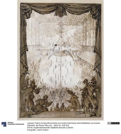 Kompositionsstudie zum ersten Intermezzo einer Ballettoper von Andrea Salvadori: der Riese Tifeo unter dem Berg Ischia