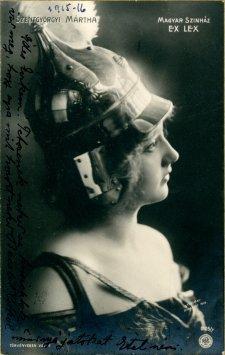 portrét herečky, Mártha Szentgyorgi