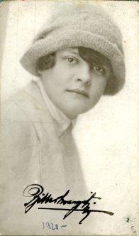 portrét herečky, Margit Ritter?