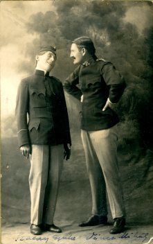 Gyori a Boros, Košice, portrét hercov, Szalay Gyula - Vince Mihály