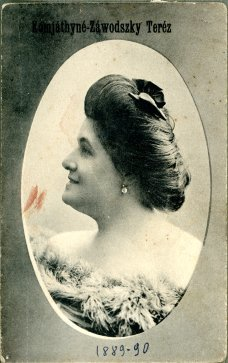 portrét herečky, Terézia Záwodsky Komjáthy