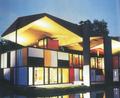 Heidi Weber Museum Centre Le Corbusier: by night
