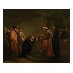 Peter Paul Rubens ontvangt een degen van Karel I van Engeland