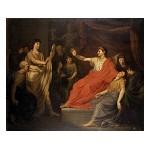 Vergilius leest keizer Augustus voor uit de Aeneïs, in aanwezigheid van Octavia, moeder van Marcellus, en Julia, weduwe van Marcellus