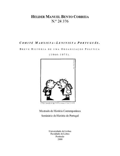 Comité Marxista-Leninista Português: breve história de uma organização política (1964-1975)