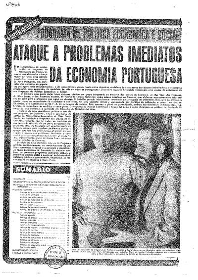 Programa de política económica e social: ataque a problemas imediatos da economia portuguesa