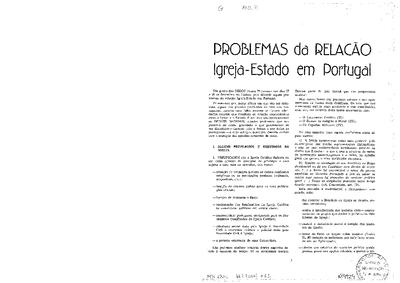 Problemas da relação Igreja-Estado em Portugal
