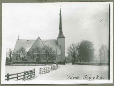 Vörå kyrka vintern 1918.