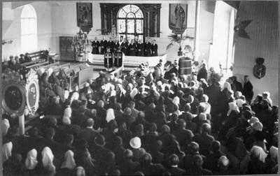 Prästinstallation i Vörå kyrka.