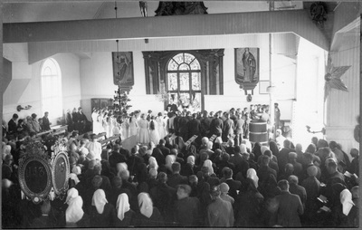 Konfirmation i Vörå kyrka.